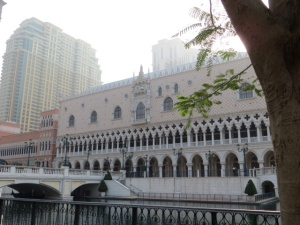 The Venetian's exterior resembles the Doges Palace