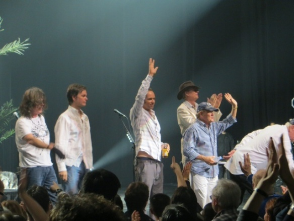 The Beach Boys--Bruce Johnston in blue shirt; Mike Love just stepped out of my frame
